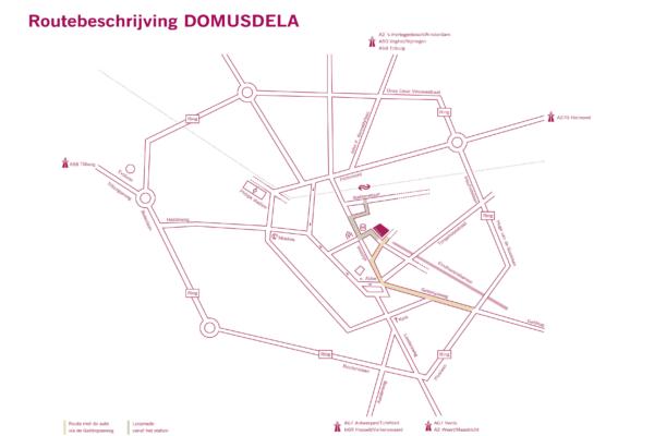 Routebeschrijving DOMUSDELA A4