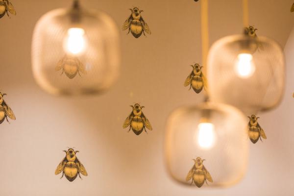 Twycer - Brasserie Rita bijenmuurmet lampDOMUSDELA